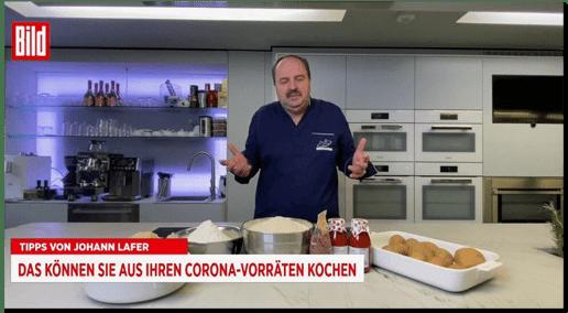 Screenshot Bild live - Tipps von Johann Lafer - Das können Sie aus Ihren Corona-Vorräten kochen
