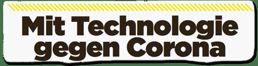 Ausriss Bild-Titelseite - Mit Technologie gegen Corona