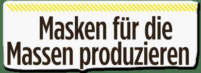 Ausriss Bild-Titelseite - Masken für die Massen produzieren