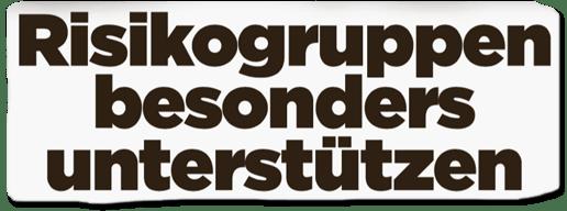 Ausriss Bild-Titelseite - Risikogruppen besonders unterstützen