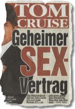TOM CRUISE Geheimer Sex-Vertrag