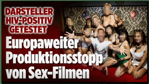 Screenshot Bild.de - Darsteller HIV-positiv getestet - Europaweiter Produktionsstopp von Sex-Filmen
