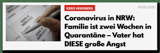 Coronavirus in NRW: Familie ist zwei Wochen in Quarantäne  Vater hat DIESE große Angst