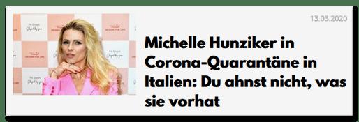 Michaelle Hunziker in Corona-Quarantäne: Du ahnst nicht, was sie vorhat