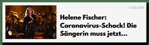 Helene Fischer: Coronavirus-Schock! Die Sängerin muss jetzt...