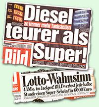 """""""Diesel teurer als Super"""" -- """"Lotto-Wahnsinn"""""""