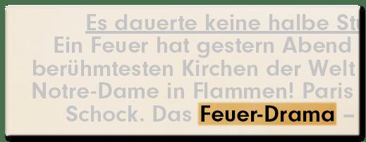 Feuer-Drama