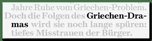 Griechen-Drama