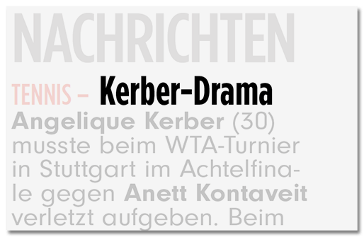 Kerber-Drama