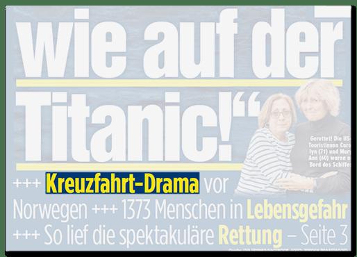 Kreuzfahrt-Drama