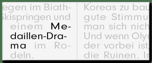 Medaillen-Drama