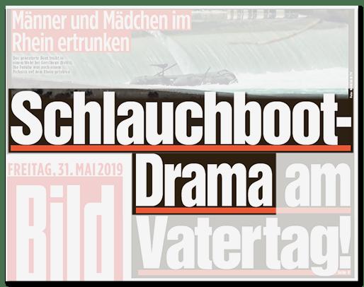 Schlauchboot-Drama