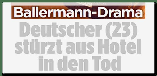 Ballermann-Drama