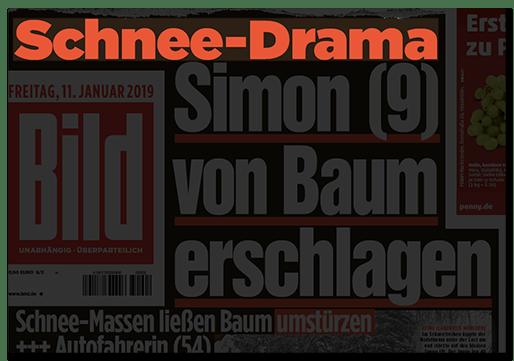 Schnee-Drama