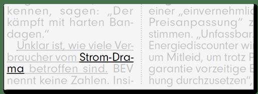 Strom-Drama
