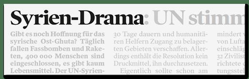 Syrien-Drama