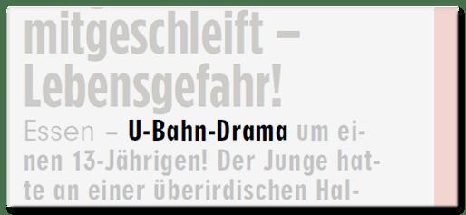 U-Bahn-Drama