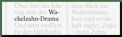 Wackelzahn-Drama