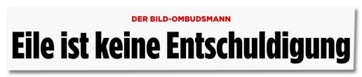 Screenshot Bild.de - Der Bild-Ombudsmann - Eile ist keine Entschuldigung