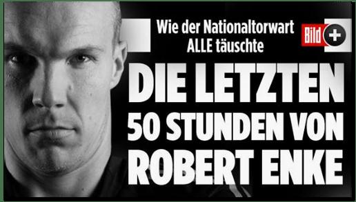 Screenshot Bild.de - Wie der Nationaltorwart alle täuschte - Die letzten 50 Stunden von Robert Enke