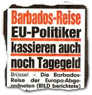 """""""Barbados-Reise: EU-Politiker kassieren auch noch Tagegeld"""""""