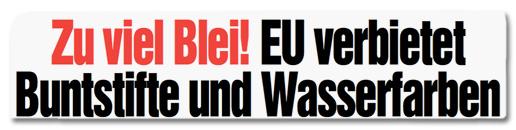 Zu viel Blei! EU verbietet Buntstifte und Wasserfarben