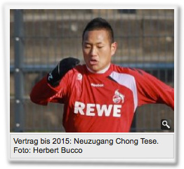 Vertrag bis 2015: Neuzugang Chong Tese.