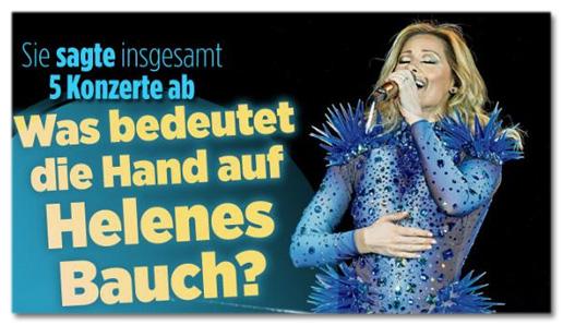 Screenshot Bild.de - Sie sagte ins gesamt fünf Konzerte ab - Was bedeutet die Hand auf Helenes Bauch?