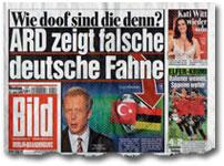 """""""Wie doof sind die denn? ARD zeigt falsche deutsche Fahne"""""""