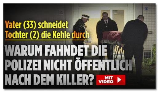 Screenshot Bild.de - Warum fahndet die Polizei nicht öffentlich nach dem Killer?
