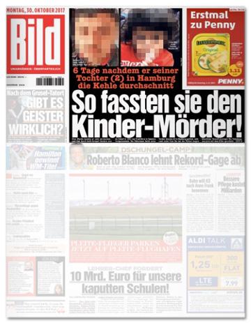 Ausriss Bild Titelseite - So fassten sie den Kinder-Mörder