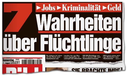 Bild Schlagzeilen Flüchtlinge
