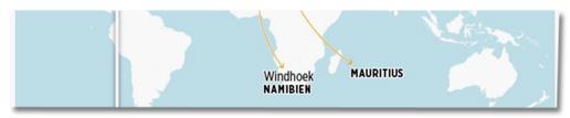 Screenshot Bild.de - Bild-Grafik in der steht Windhoek Namibien