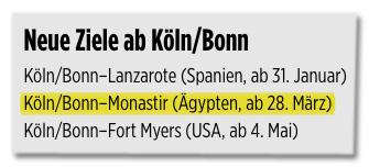 Screenshot Bild.de - Flugroute Köln/Bonn Monastir Ägypten
