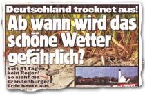 """""""Deutschland trocknet aus! Ab wann wird das schöne Wetter gefährlich?"""""""