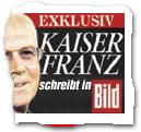 """""""Exklusiv: Kaiser Franz schreibt in BILD"""""""
