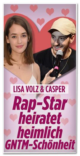 Screenshot Bild.de - Lisa Volz und Casper - Rap-Star heiratet heimlich GNTM-Schönheit
