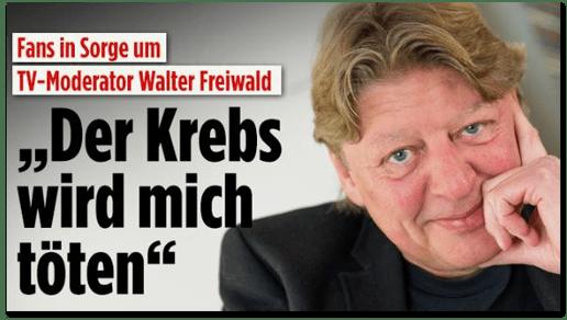 Screenshot Bild.de - Fans in Sorge um TV-Moderator Walter Freiwald - Der Krebs wird mich töten