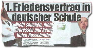 """""""Nicht spucken, nicht erpressen und keine tiefen Ausschnitte! 1. Friedensvertrag in deutscher Schule"""""""