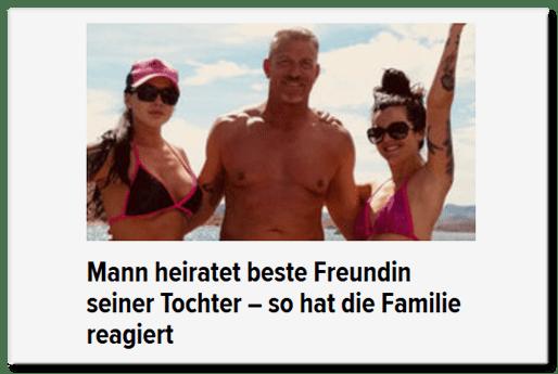 Mann heiratet beste Freundin seiner Tochter - so hat die Familie reagiert