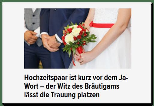 Hochzeitspaar ist kurz vor dem Ja-Wort - der Witz des Bräutigams lässt die Trauung platzen