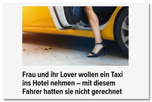 Frau und ihr Lover wollen ein Taxi ins Hotel nehmen - mit diesem Fahrer hatten sie nicht gerechnet