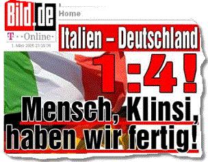 spielergebnis deutschland italien