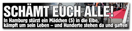 SCHÄMT EUCH ALLE! - In Hamburg stürzt ein Mädchen (5) in die Elbe, kämpft um sein Leben - und Hunderte stehen da und gaffen