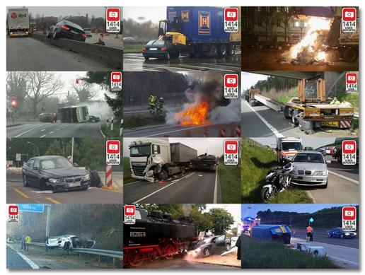 Collage mit Screenshots von Bild.de-Artikeln, die auf Leserreporter-Aufnahmen von Unfällen beruhen