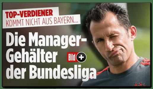 Screenshot Bild.de - Top-Verdiener kommt nicht aus Bayern - Die Manager-Gehälter der Bundesliga