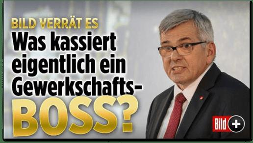 Screenshot Bild.de - Bild verrät es - Was kassiert eigentlich ein Gewerkschafts-Boss?