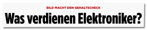 Screenshot Bild.de - Bild macht den Gehaltscheck - Was verdienen Elektroniker?