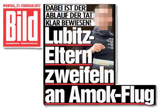 Germanwings-Katastrophe Darum glaubt die Familie von Andreas Lubitz nicht an