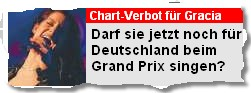Chart-Verbot für Gracia. Darf sie jetzt noch für Deutschland beim Grand-Prix singen?